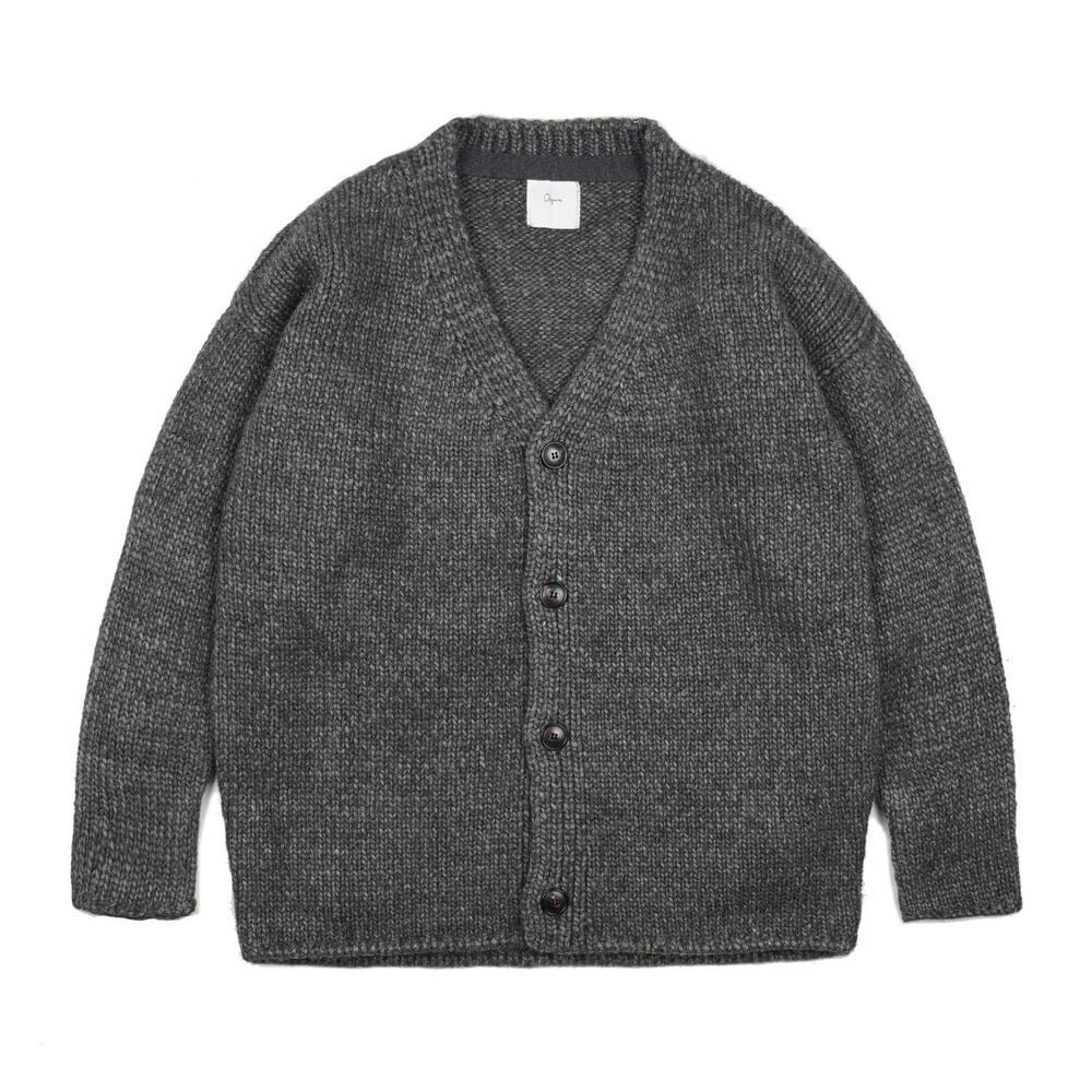 "Dropped-shoulder cardigan ""Grey"""