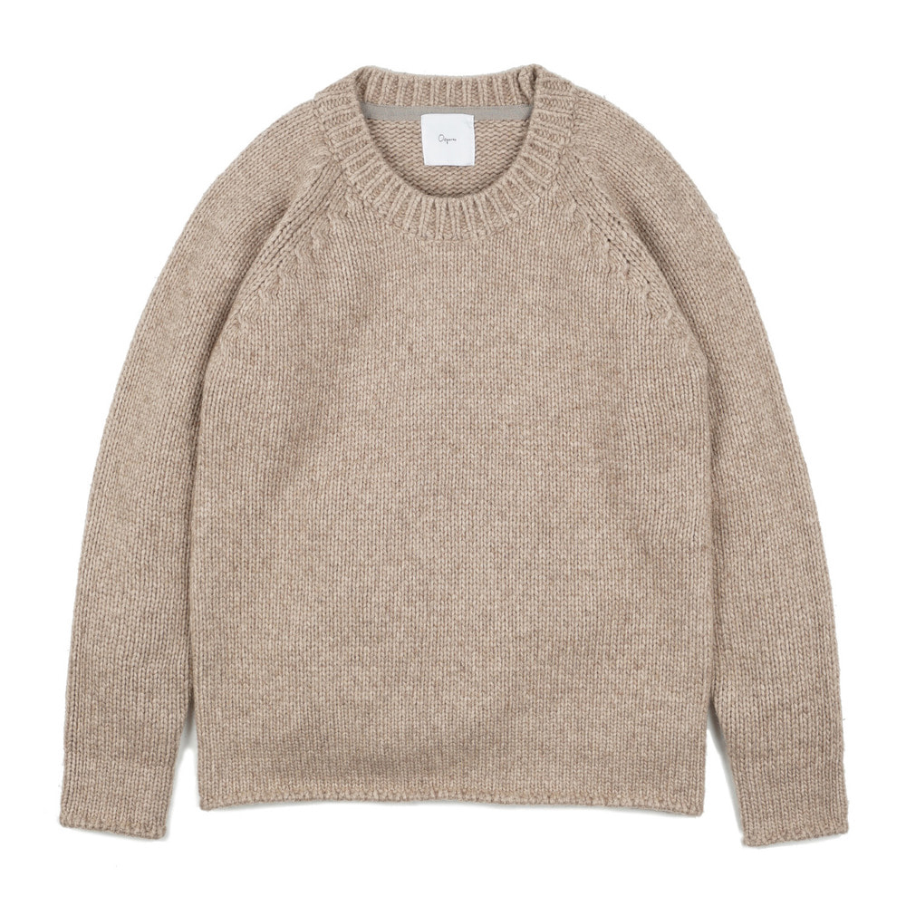 "Round-neck sweater ""Beige"""