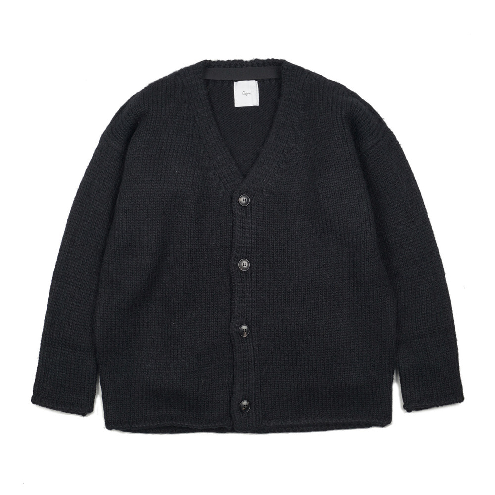 "Dropped-shoulder cardigan ""Black"""