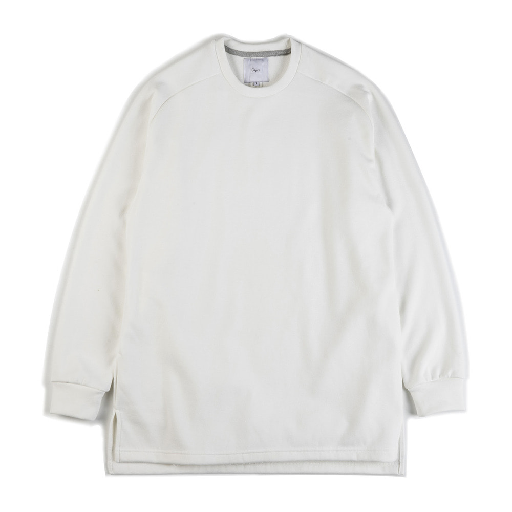"Raglan cotton-jersey sweatshirt ""White"""