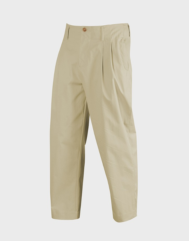 carrot-fit cropped pants sand