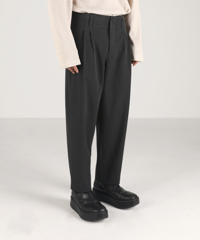 carrot-fit cropped pants dark grey